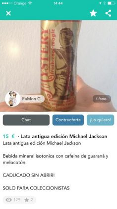 LATA ANTIGUA MICHAEL JACKSON