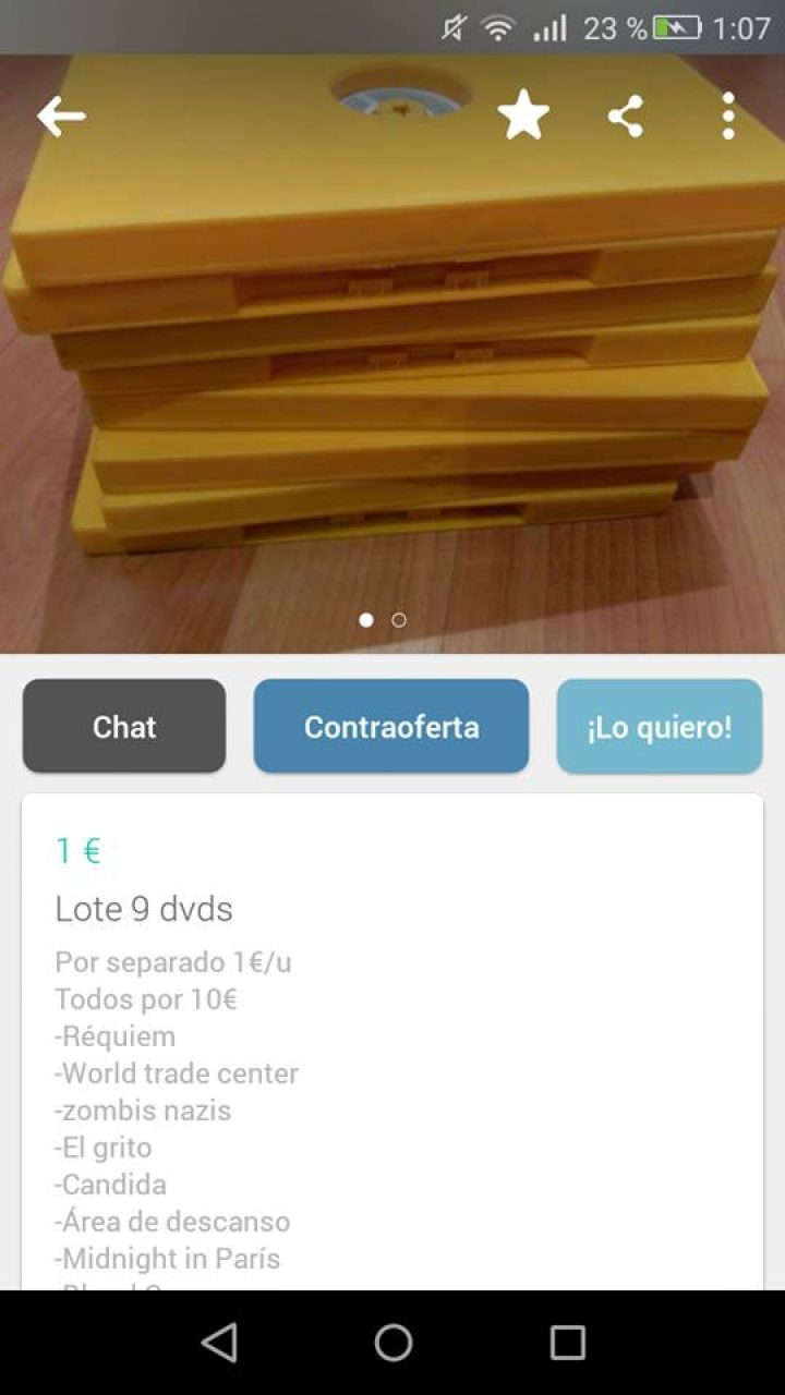 LOTE 9 DVDS