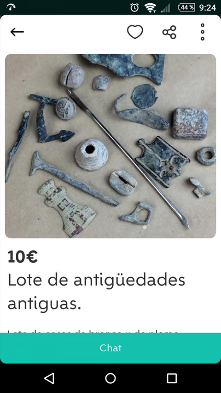 LOTE DE ANTIGÜEDADES ANTIGUAS