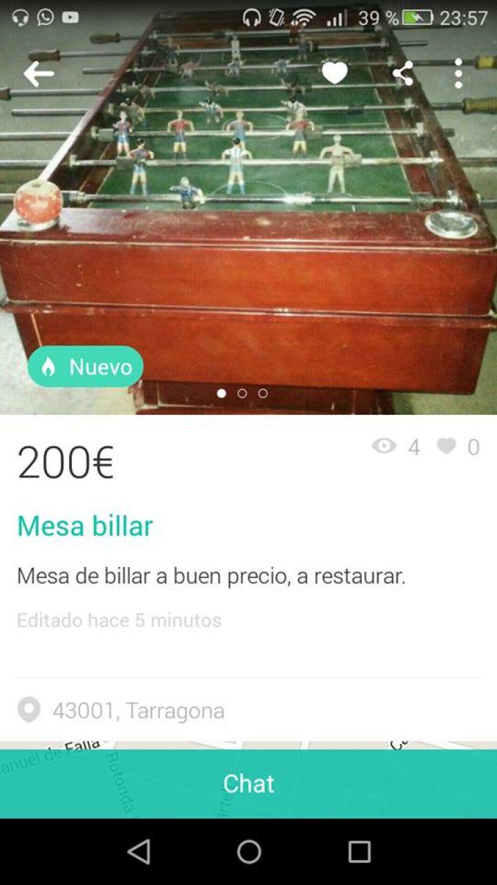 MESA BILLAR