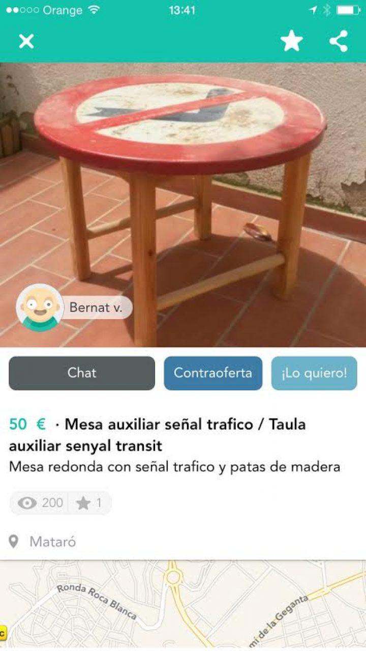 MESA SEÑAL DE TRÁFICO