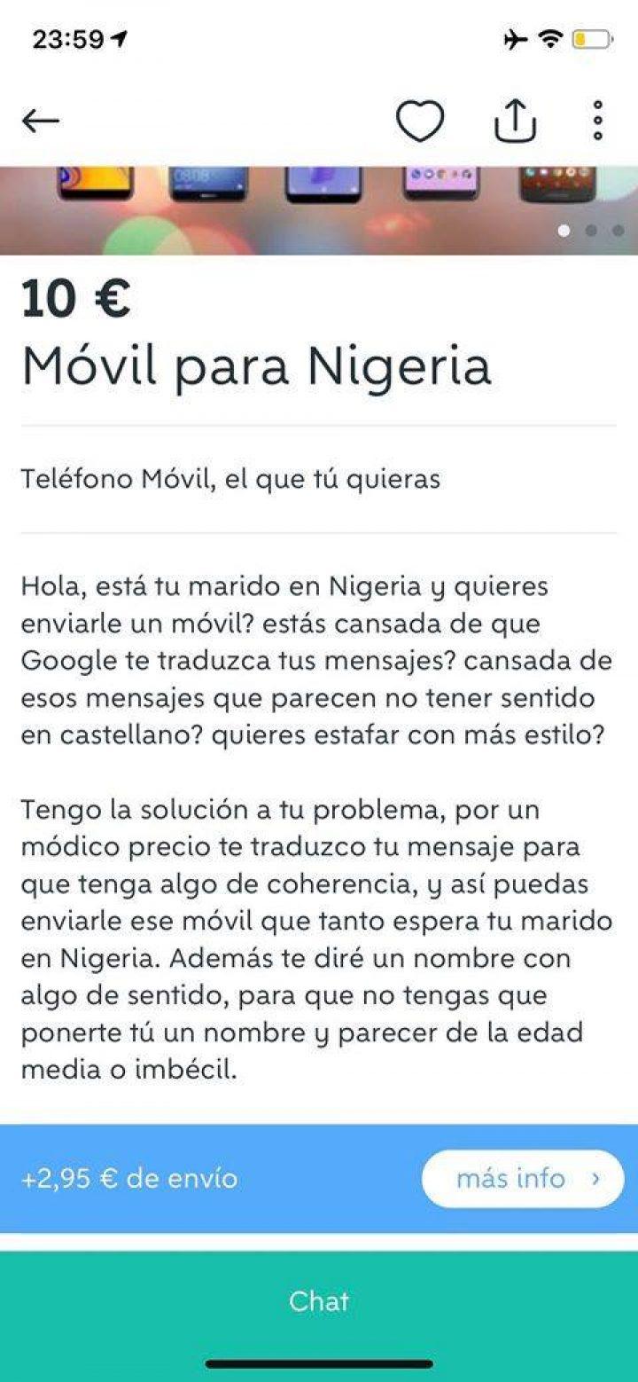 MÓVIL PARA NIGERIA