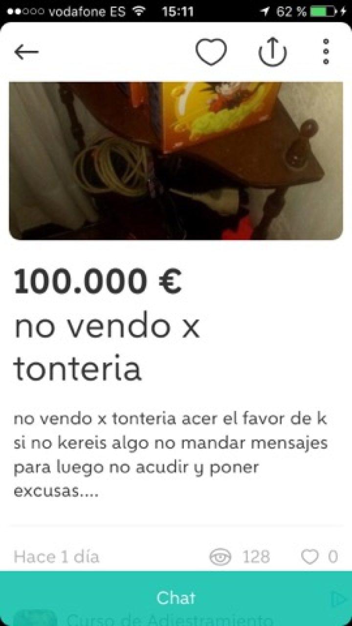 NO VENDO POR TONTERIA