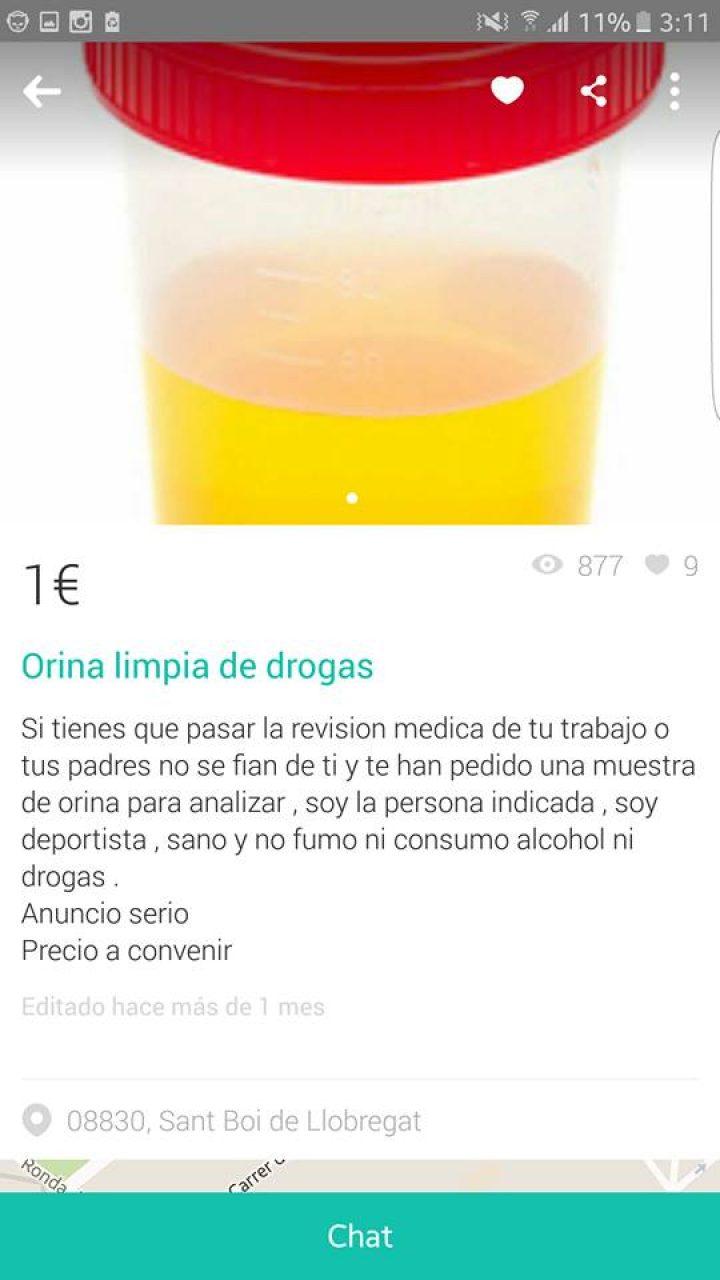 ORINA LIMPIA DE DROGAS