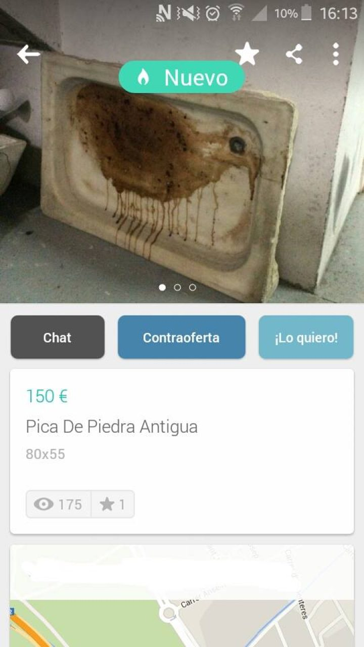 PICA DE PIEDRA ANTIGUA