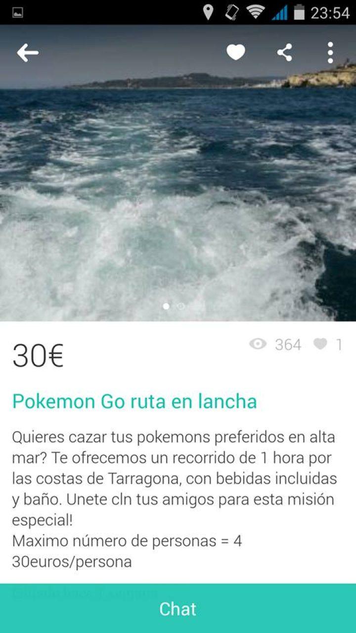 POKEMON GO RUTA EN LANCHA