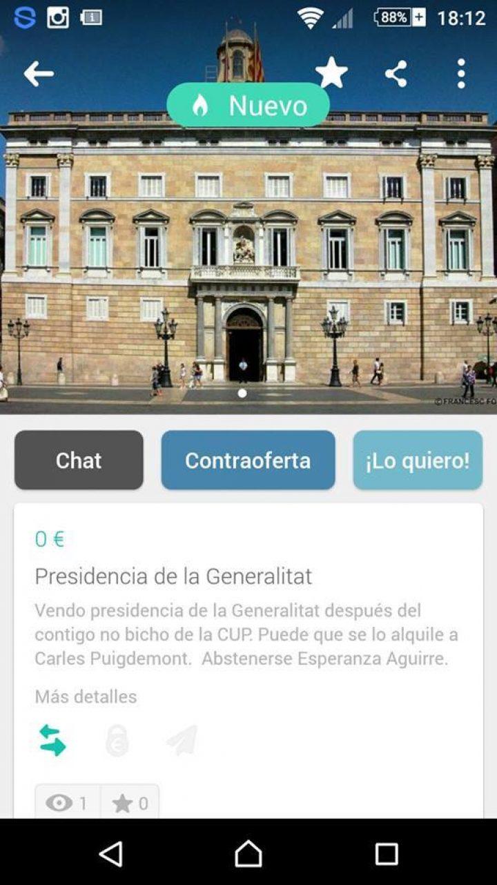 PRESIDENCIA DE LA GENERALITAT FOR SALE!!!