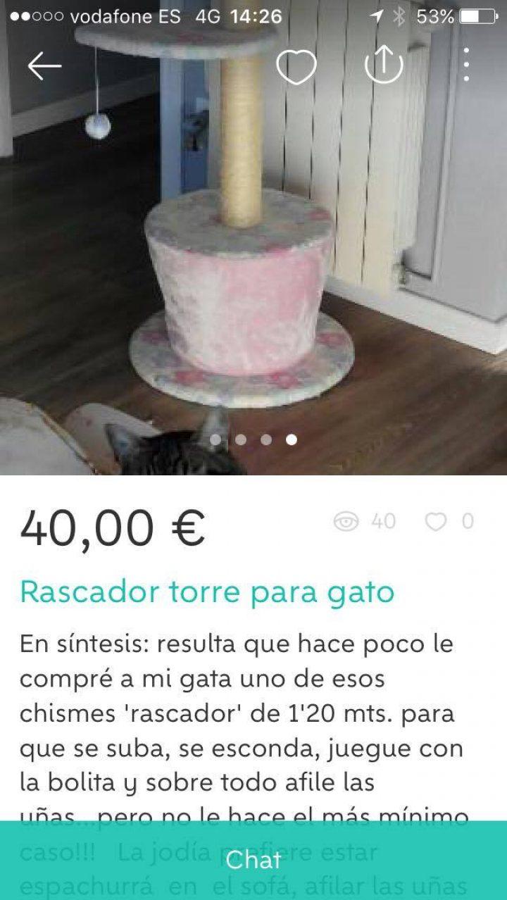 RASCADOR TORRE PARA GATO