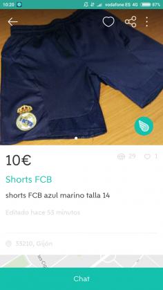 SHORTS FCB