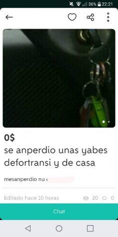"""""""SE ANPERDIO UNAS YABES"""""""
