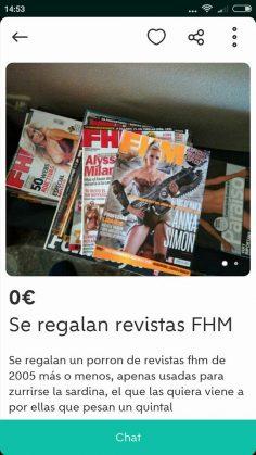 SE REGALAN REVISTAS FHM
