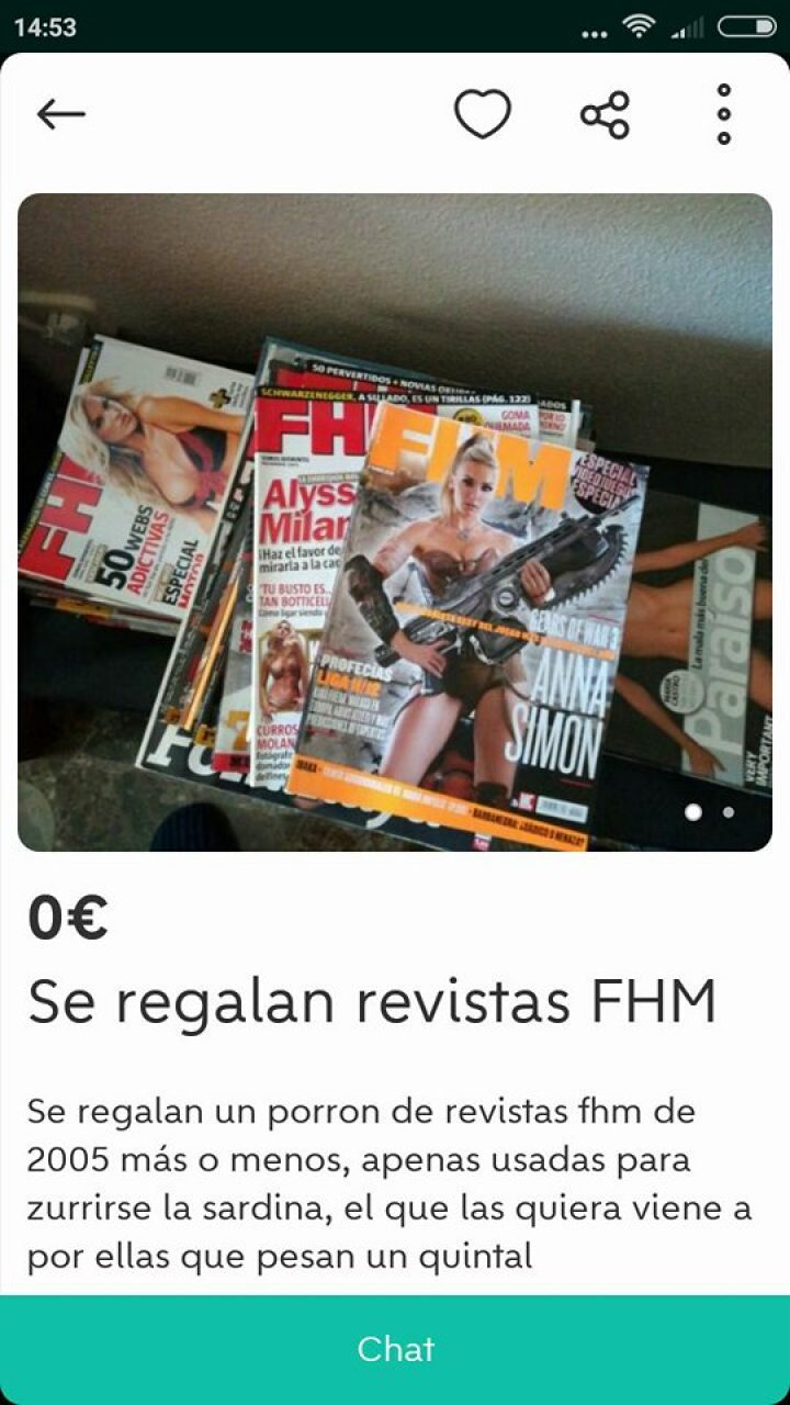 SE REGALAN REVISTAS FHM