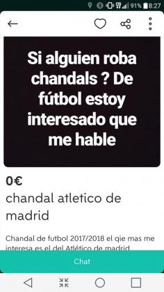 CHANDAL ATLÉTICO DE MADRID