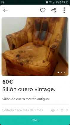 SILLÓN CUERO VINTAGE