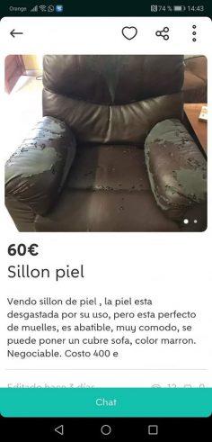 SILLÓN PIEL