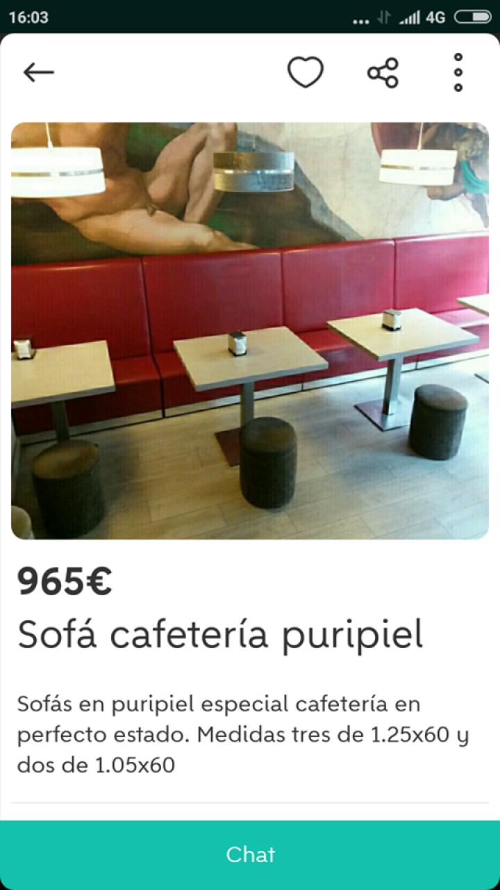 SOFÁ CAFETERIA