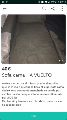 "SOFÁ CAMA ""HA VUELTO"""