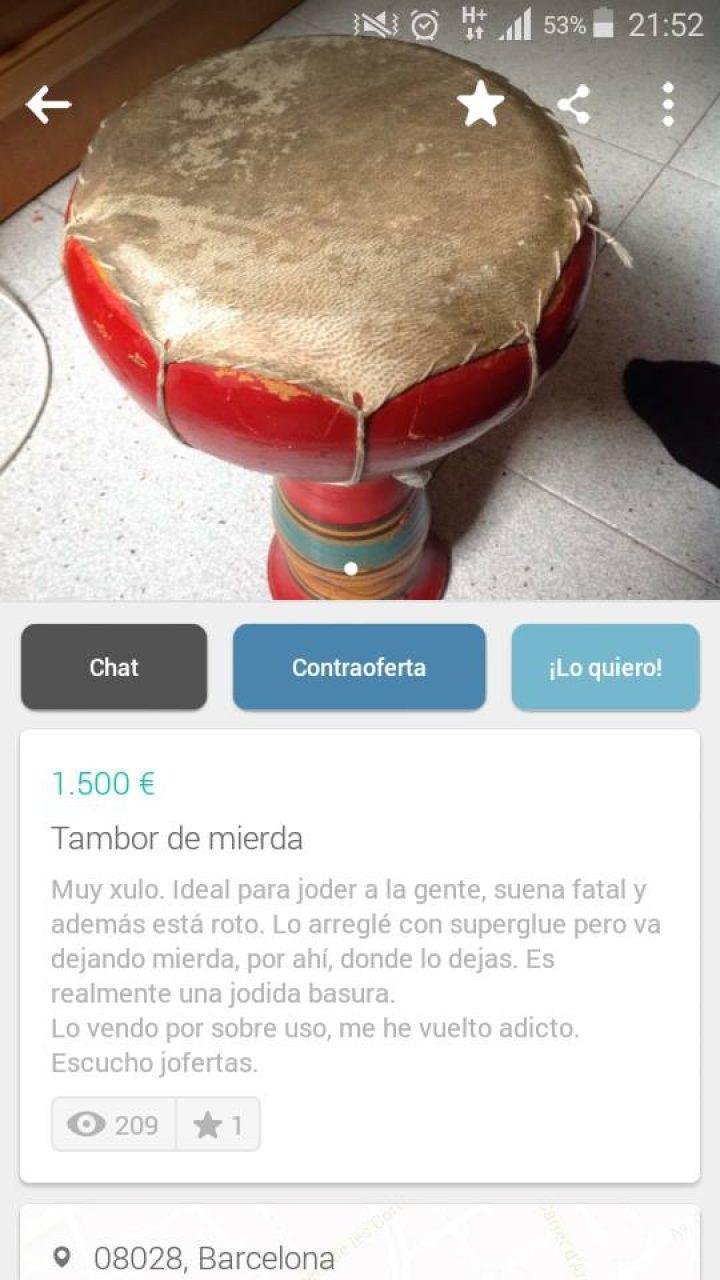 TAMBOR DE MIERDA