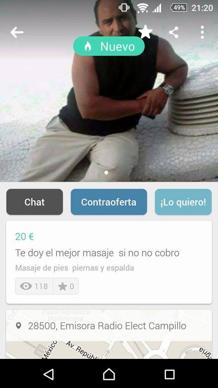 TE DOY EL MEJOR MASAJE, SI NO NO COBRO