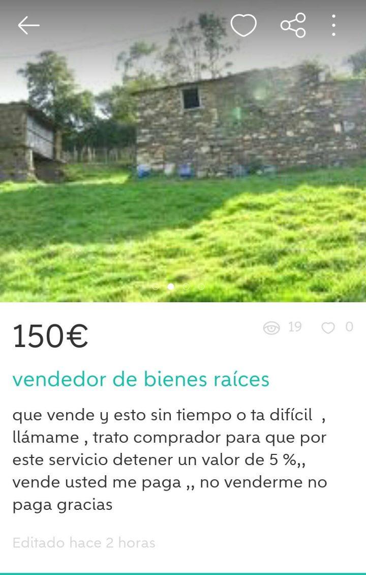 VENDEDOR DE BIENES RAÍCES