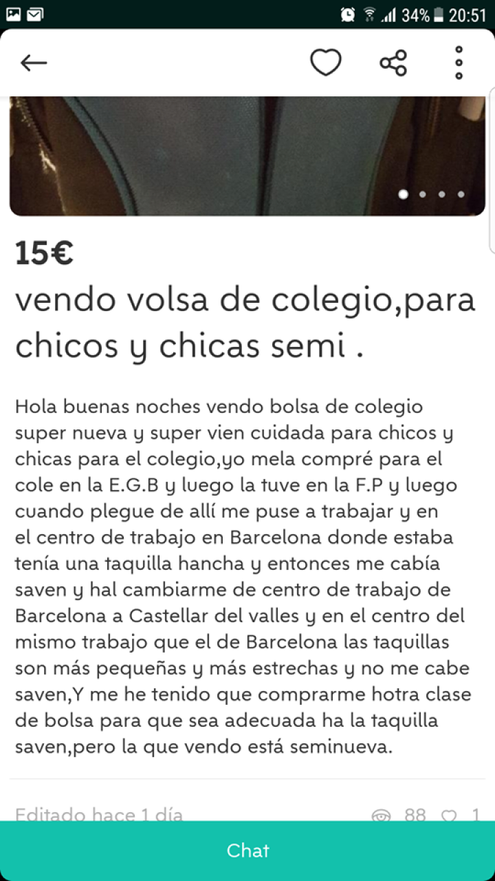 VENDO BOLSA DE COLEGIO
