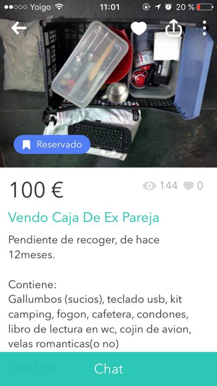 VENDO CAJA DE EX PAREJA
