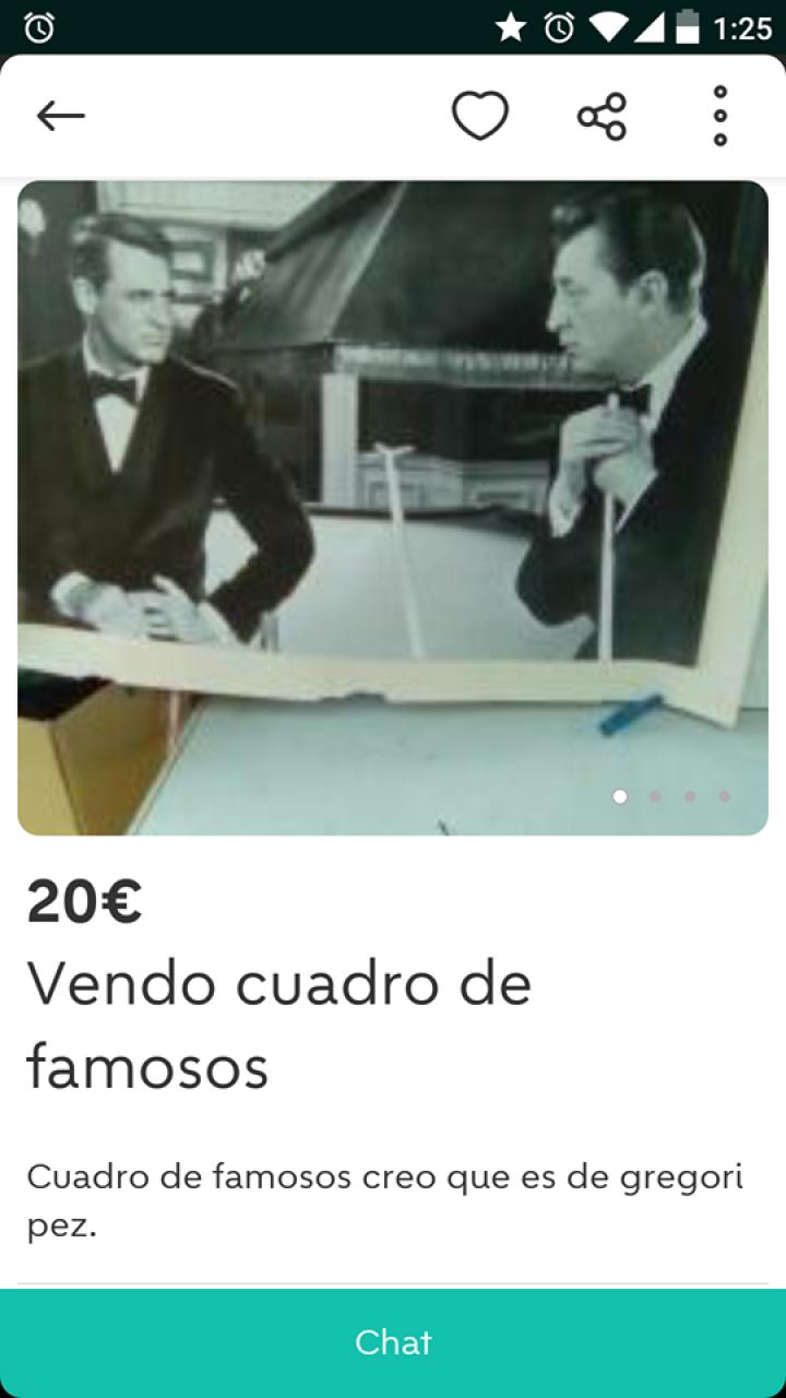 VENDO CUADRO DE FAMOSOS