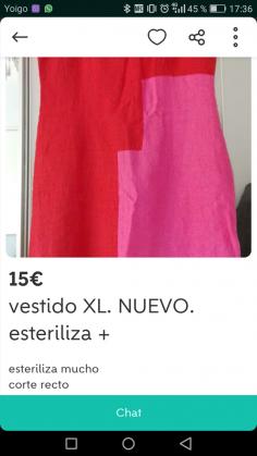 VESTIDO XL NUEVO