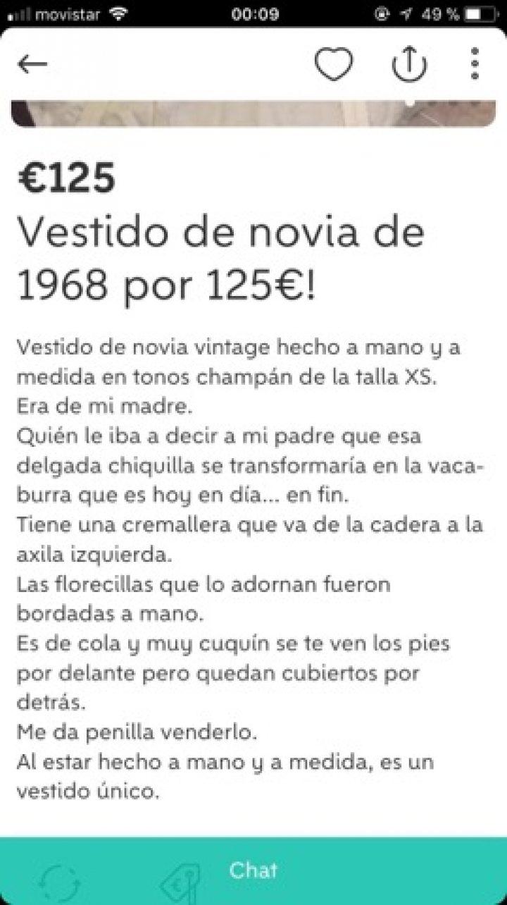 VESTIDO DE NOVIA DE 1968
