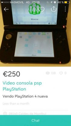 """VIDEOCONSOLA PSP PLAYSTATION"""