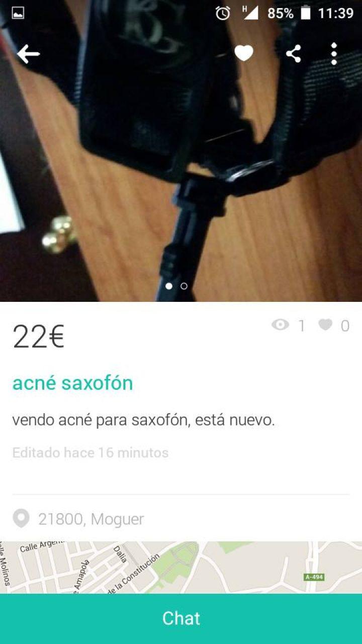 """""""ACNÉ SAXOFON"""""""