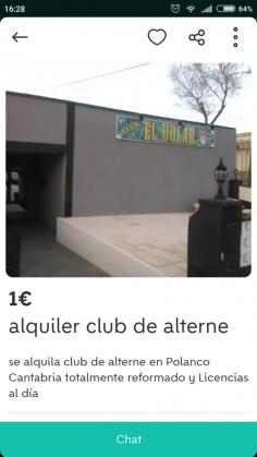 ALQUILER CLUB DE ALTERNE