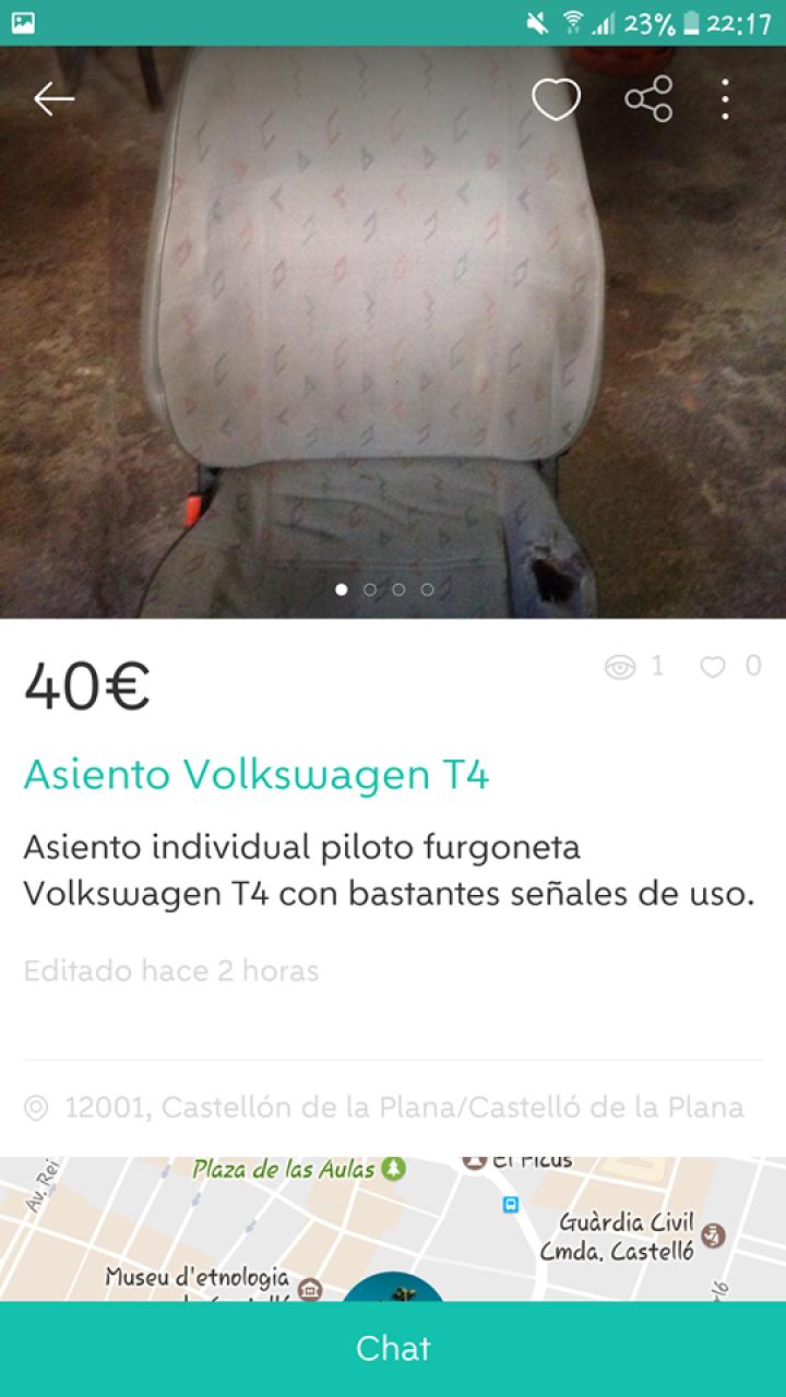 ASIENTO VOLKSWAGEN