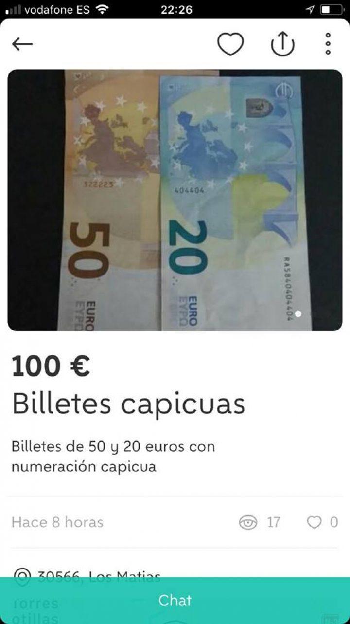 BILLETES CAPICUAS