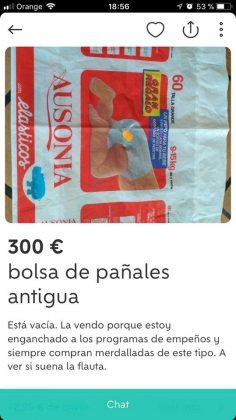 BOLSA DE PAÑALES ANTIGUA