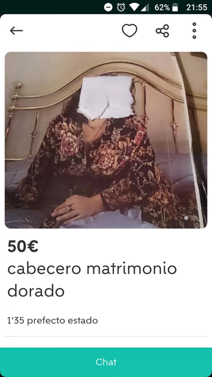 CABECERO MATRIMONIO DORADO