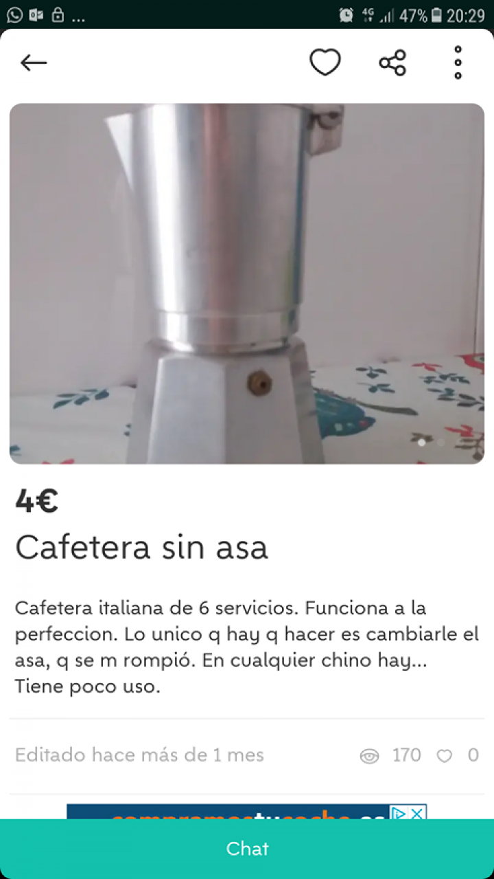 CAFETERA SIN ASA