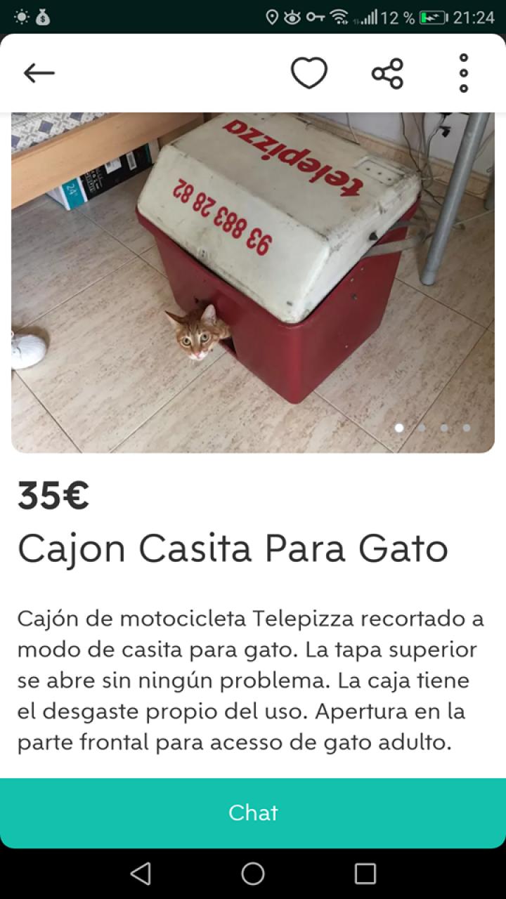 CAJÓN CASITA PARA GATO
