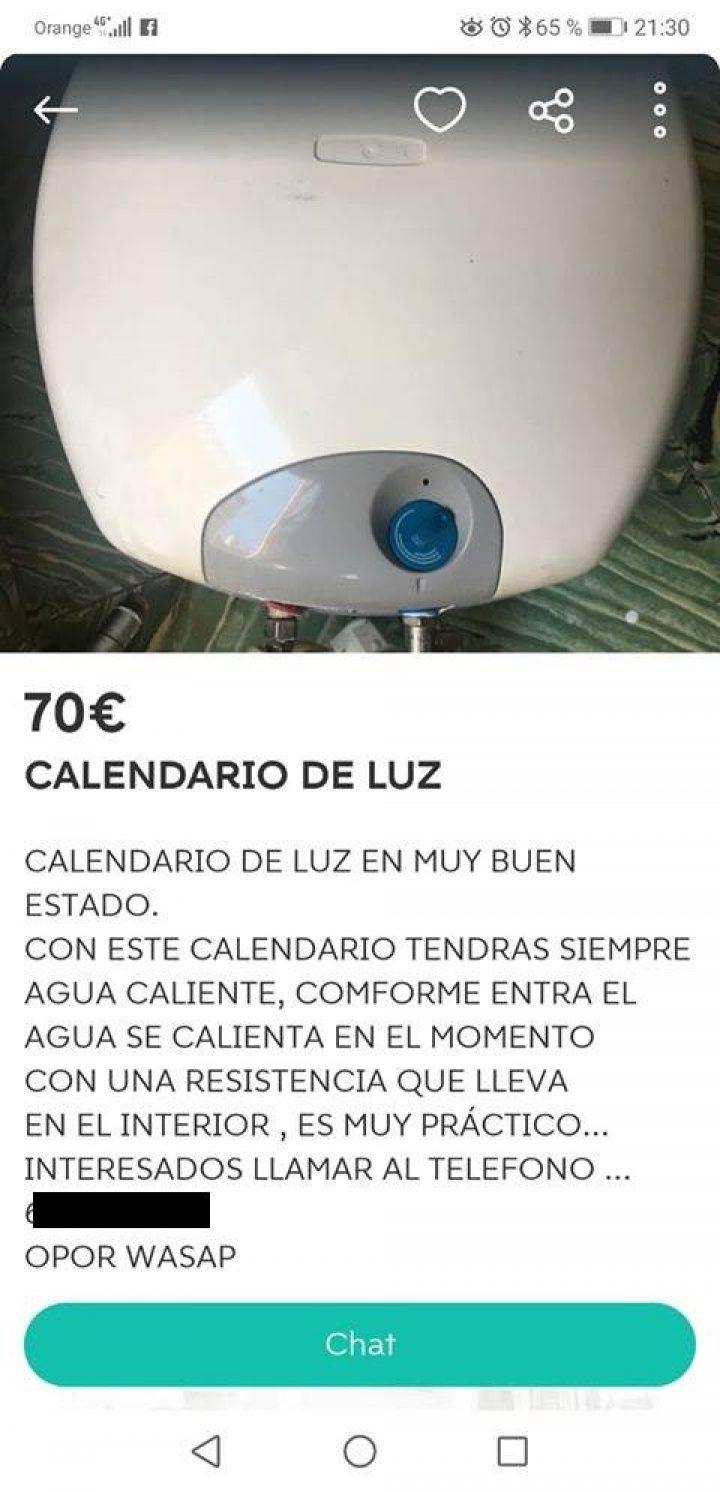 CALENDARIO DE LUZ