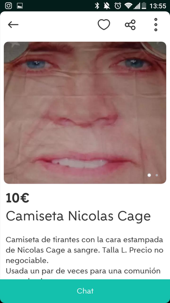 CAMISETA NICOLAS CAGE