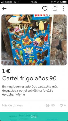 CARTEL FRIGO AÑOS 90