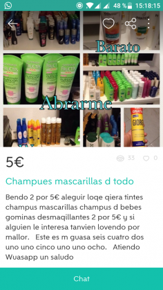 CHAMPUES MASCARILLAS