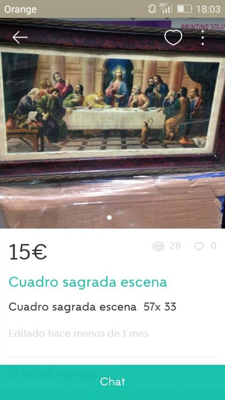 "CUADRO ""SAGRADA ESCENA"""