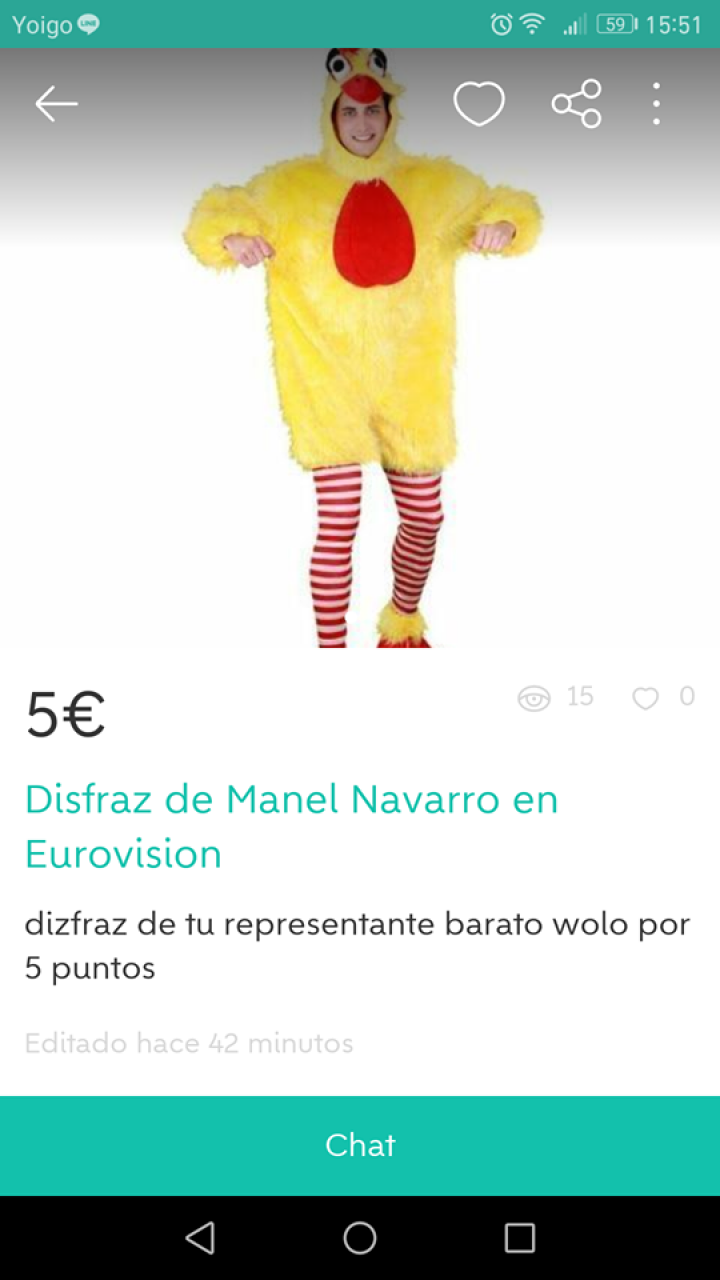 DISFRAZ DE MANEL NAVARRO