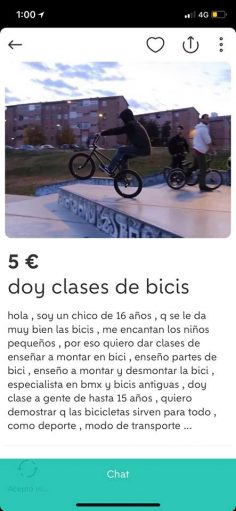 DOY CLASE DE BICIS