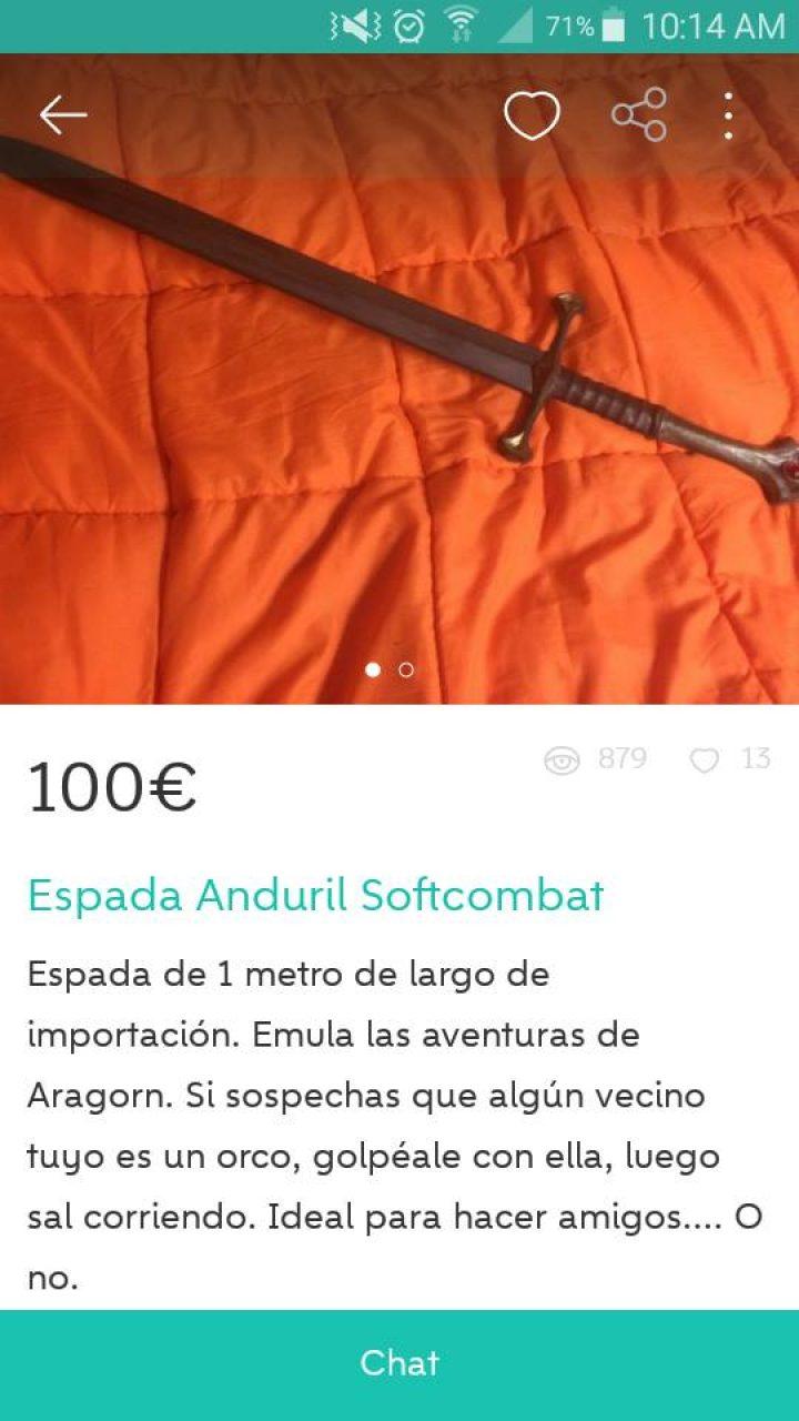 ESPADA ANDURIL SOFTCOMBAT