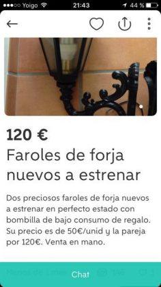 FAROLES DE FORJA