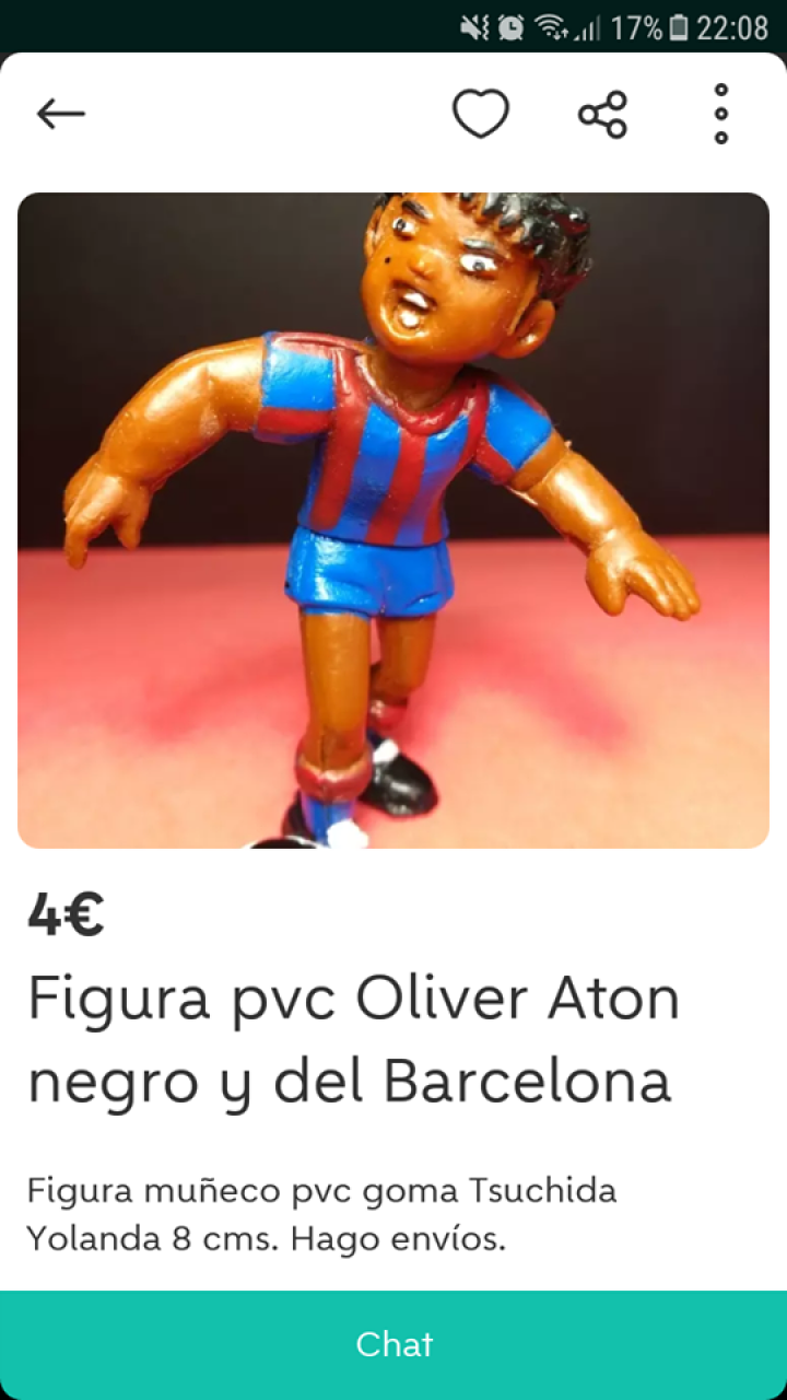 FIGURA PVC OLIVER ATON
