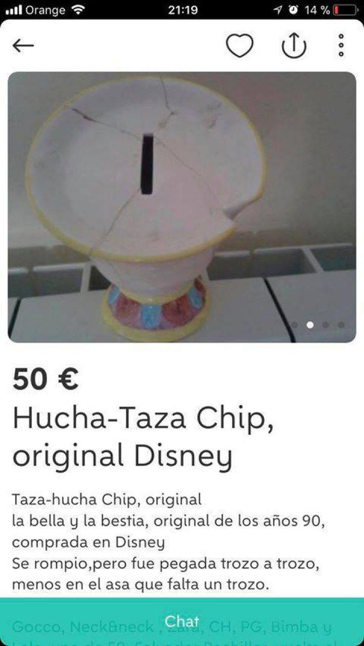 HUCHA-TAZA CHIP DISNEY