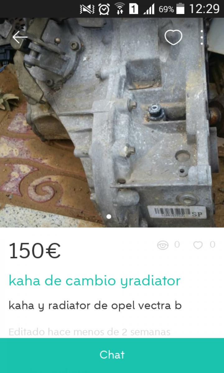 """""""KAHA DE CAMBIO YRADIATOR"""""""